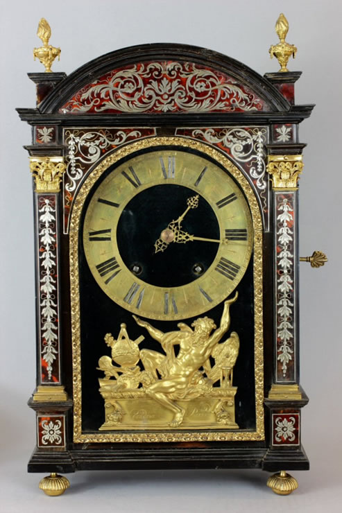 A Louis XIV period pendule religieuse clock  attributed to Andre-Charles Boulle