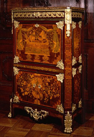 louis xvi marquetry secr taire abattant signed l boudin. Black Bedroom Furniture Sets. Home Design Ideas
