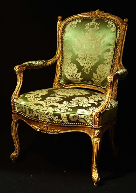 Transitional Louis Xv Xvi Armchair With Original Water And