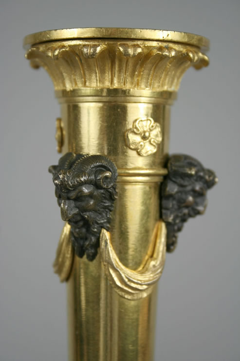 Roman neoclassical candlestick with griffins attributed to Giuseppe Valadier