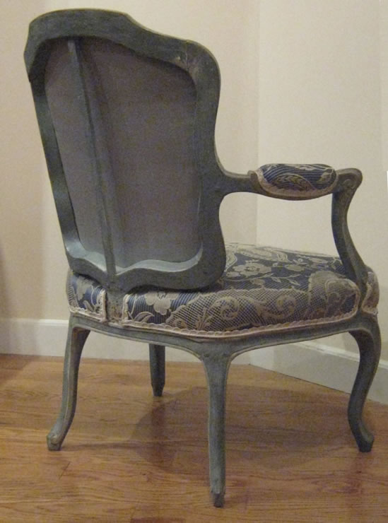 Pair Louis XV fauteuils signed Malbet