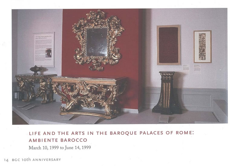 Roman baroque gilded console table