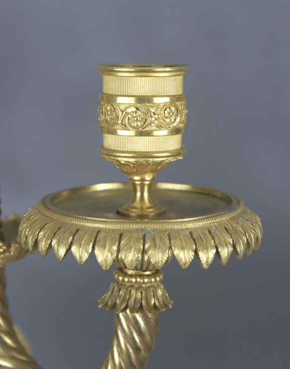Three-light ormoulu candelabra attributed to Francois Remond