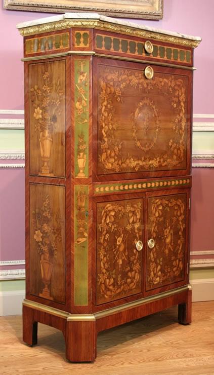 louis xvi secretaire signed evald. Black Bedroom Furniture Sets. Home Design Ideas