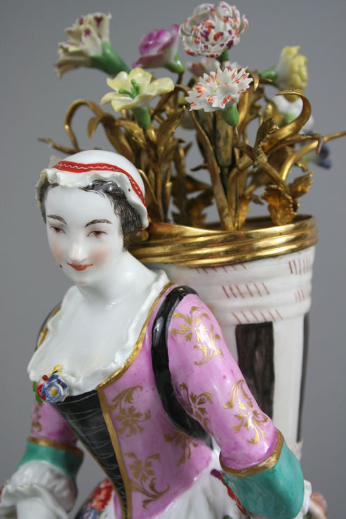 Meissen  ormolu mounted flower seller
