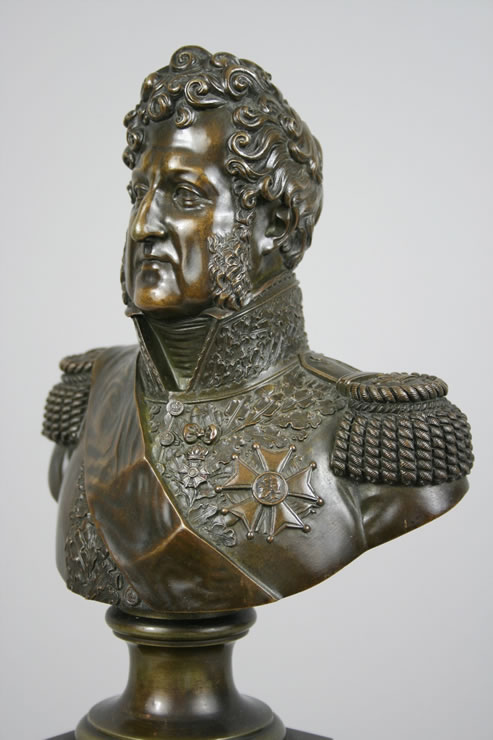 Bronze bust of Louis Philippe