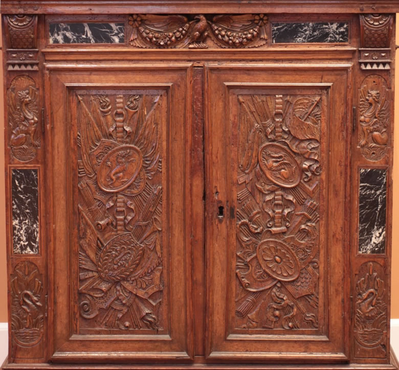 Louis XIII walnut armoire a deux corps