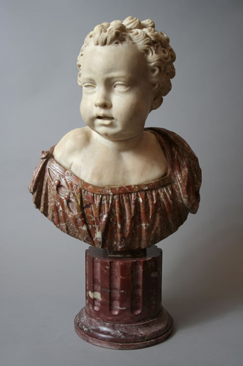Renaissance bust of a boy