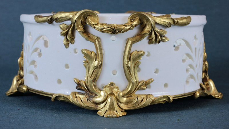 Vincennes cheese dish (fromager) in Louis XVI mounts