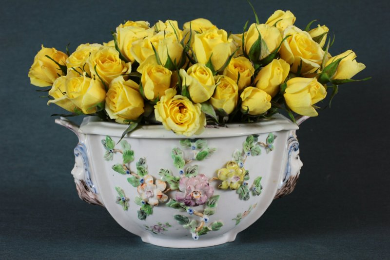Chantilly soft-paste posy vase