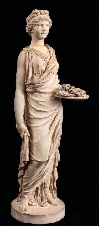Terracotta statuette of a Vestal by Clodion
