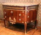 Transitional D-shaped commode attributed to Charles Topino