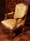 R�gence carved beechwood fauteuil