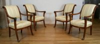 Set of 4 Empire fauteuils attributed to Demay