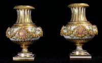 Exceptional pair Sèvres hard paste Vases du Roi
